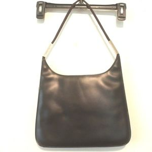 Handbags - Dark Brown PVC Hobo Shoulder Flat Satchel Handbag